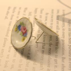 Miniture plate earrings...